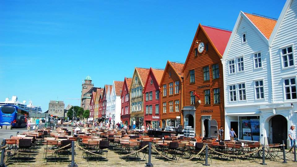 Ганзейская набережная, Берген. Норвегия